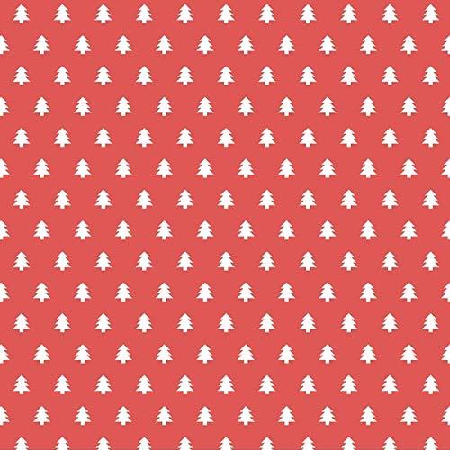 Räder Servietten Tannenbäume, rot