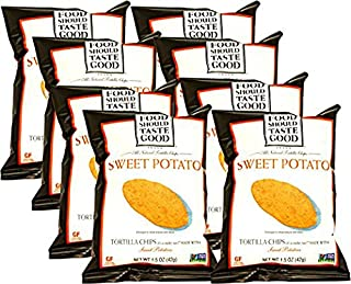 Food Should Taste Good Sweet Potato Tortilla Chips, 1.5 oz (Pack of 8)