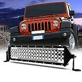 JoaSinc Faro LED Tractor, 12' 264W 26400LM Faros Trabajo LED 12V 24V Barra LED IP67 Impermeable Luz de Niebla para Coche, SUV, UTV, ATV, Off-road, Camión, Moto, Barco, Garantía de 1 años