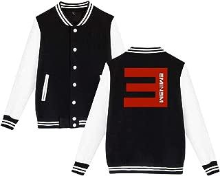 Mens Womens Unsiex Baseball Eminem Sweater Long Sleeve Jumper Sweat Baseball Jacket for Men Women