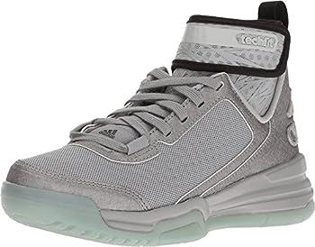 adidas Dual Threat Junior Basketball Shoes 5.5 Light Onix/Black/Clear Onix