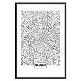 murando Poster Stadt Berlin 30x45 cm mit Rahmen Bilder