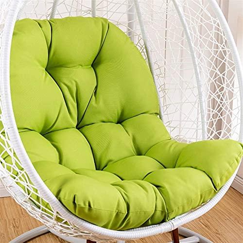 YDuro Giardino Extra Grande Sedia da Oscillazione Cuscino Appeso Uovo Sedia tampone No-Slip Cuscino Sedia Rotondo Cuscino Marrone Cuscino da Cestino da sosta per Esterno (Color : Green)