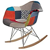 Ventamueblesonline SILLÓN Mecedora Tower Wood Patchwork