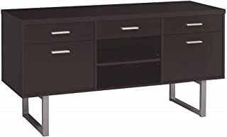 Glavan Credenza with Metal Sled Legs Cappuccino