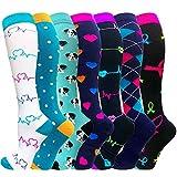 ACTINPUT Calcetines de compresión para Mujeres y Hombres 20-25 mmHg es el Mejor atlético,...