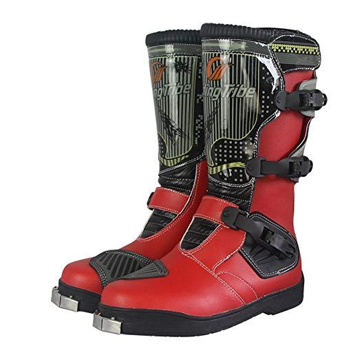 AJL Zapatos Anti deslizantes de Motocross al Aire Libre, Calzado Deportivo protección...