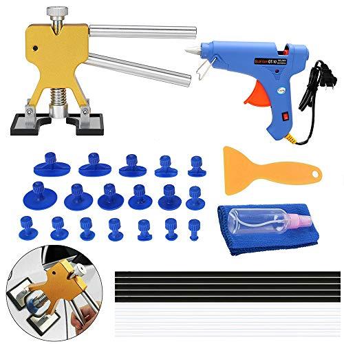 Paintless Dent Repair Toolkit Dent Lifter Aftrekker lijmpistool gereedschap lijmstiften 33 stuks US Plug