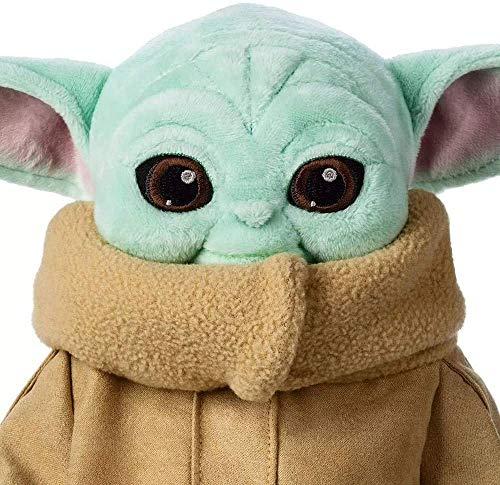 Snongh Gefüllte Süße Baby Yoda Puppe,Das Kind Weiche Geschenke Star Wars Baby Yoda Plüsch Spielzeug-Cyan 12inch