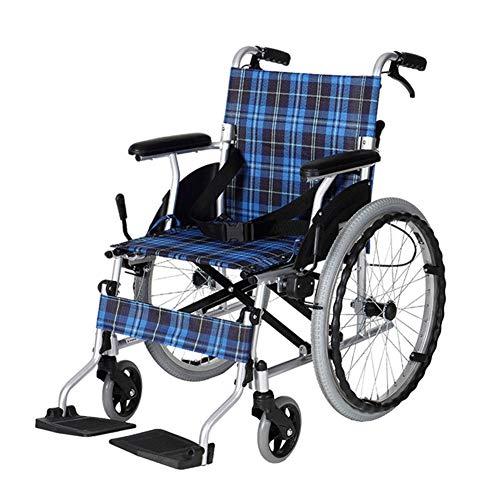 Candyana Anziano Opvouwbaar kinderwagen, achter, inklapbaar, rolstoel, corpus van aluminiumlegering, gemakkelijk te transporteren