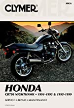 1991-1999 Honda CB750 Nighthawk CLYMER MANUAL HON CB750 NIGHTHAWK 91-93 & 95-99, Manufacturer: CLYMER, Manufacturer Part Number: M436-AD, Stock Photo - Actual parts may vary.