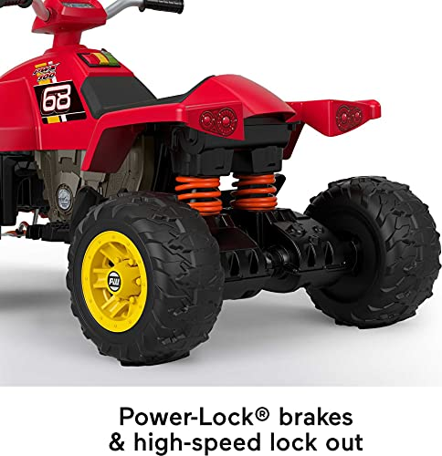 Fisher-Price Power Wheels Hot Wheels Racing ATV 12-V Battery Powered Ride-on Vehicle for Preschool Kids Ages 3-7 Years [Amazon Exclusive]