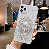 KESHOUJI Diamond Sun Flower Holder Stand étui de téléphone Souple pour iphone 11 Pro Max X XS XR...