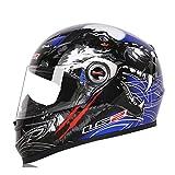CARACHOME Casco Jet Moto,Casco Jet Vintage con Máscara para Gafas, Casco De Astronauta De Transpirable, Casco Integral Moto para Motocross, Patinete,D,XXL