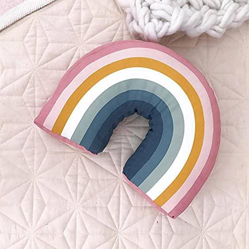 Arco Iris en forma de U, almohada decorativa para niños, cojín para el cuello para habitación, lindas almohadas para bebés, juguetes para dormir, muñecos de peluche, regalo de cumpleaños