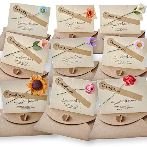 (moin moin) メッセージ カード 花束 バースデー グリーディング 花 ひまわり ユリ バラ カーネーション な...