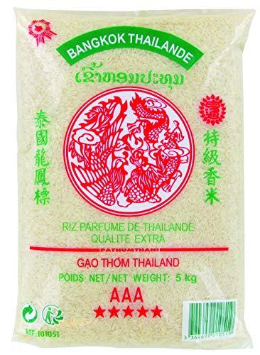 Riz Thai parfumé qualité premium GAO THOM - Marque Dragon Phenix (Sac de 5KG, 10KG ou 20KG) (5KG)