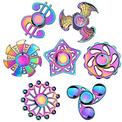 Rainwbow Fidgets Spinners Fidget Toys Set Finger Hand...