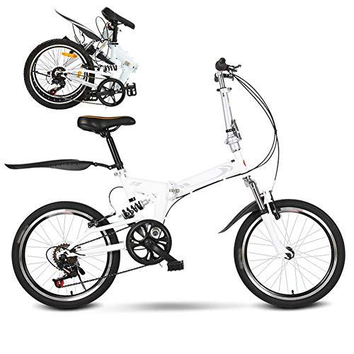 Nobuddy Klappfahrrad Bikes, 6 Gang Mann-Fahrrad & Frau-Fahrrad, Mountainbike Jugend 20 Zoll, Fahrrad für Erwachsene, Faltbares Kinderrad Laufrad/A Wheel
