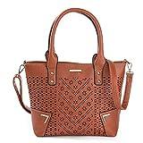 fdhdfh Bolsos ahuecados para Mujer Bolsos de Mensajero de Hombro Lady Tote Crossbody Bags 34Cm * 26Cm * 10Cm (L * H * T)Marrón