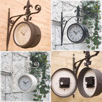 壁掛式両面時計♪ノーブルアイアン ボスサイドウォールクロック♪Sサイズ♪ (番号:SandBrown / 注意!商品の内訳は「サンドブラウン♪\-」のみ)