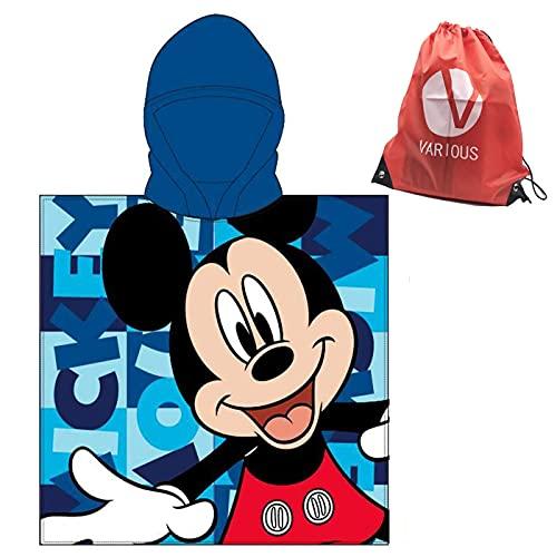 Toalla Infantil con Capucha de niño y niña Licencia Oficial Disney Mickey 8090
