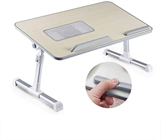 Adjustable Laptop Bed Table Lap Standing Desk for Bed and Sofa Laptop Lap Desk Folding Breakfast Serving Tray for Sofa, Be...