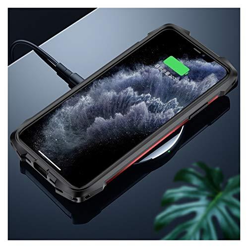 SGJFZD Para iPhone 7 Plus / 8 Plus (5.5-Pulgadas) Prueba de Golpes de Silicona Metal TPU acrílico Trasero Cubierta del teléfono (Color : Gold)