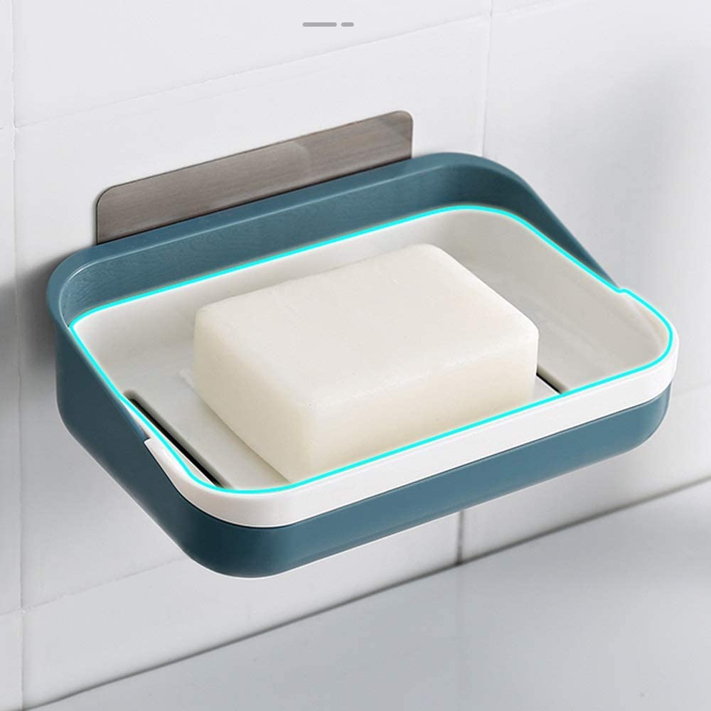 shop DSWHM Soap Dish Saver Holder Free Max 83% OFF Bathroom Punching B