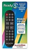 Superior Ready 5 - Telecomando universale autoapprendente compatibile con tutte le TV e SMART TV - Subito pronto per LG / SAMSUNG / SONY / PANASONIC / PHILIPS