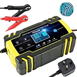 JXWL Car Battery Charger, 8 Amp 12V 24V 3-Stage Automatic Trickle Battery Charger Maintainer with LCD Screen...
