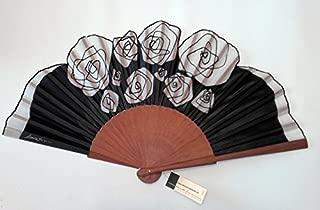 Ogquaton Abanico Abanico para Mujer Pintura de bamb/ú Abanico Regalo de Banquete de Boda Artesan/ía a Mano Gato Patr/ón Abanico Negro 1 Piezas