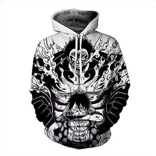 Preisvergleich Produktbild Lklik Sweatshirt Herren Und Damen Neutral Anime One Piece Wang Lufei 3D Print Sweatshirt-XL