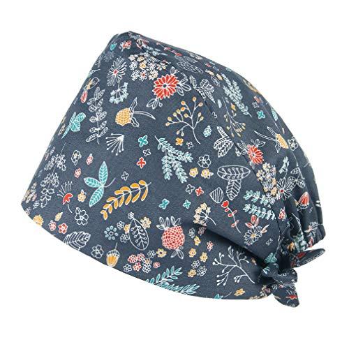 Gorros de Trabajo - Lavable- Robin Hat - Pelo Largo - Ajustable - Estampado -100% algodón Sombreros Mujer