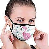 Gesichtsmaske Flamingo mit Hut Muster Design halbe Gesichtsmaske Anti-Staub Gesichts- und Nasenabdeckung Cool Soft Windproof Ski Mundmaske