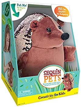 Creativity for Kids Sequin Pets Stuffed Animal Plush Toy