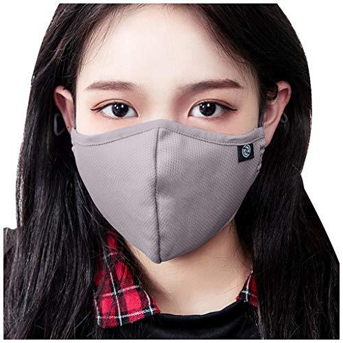 SCHOLIEBEN ProteccióN Facial Para Adultos, Reutilizable, Transpirable, A Prueba De Polvo, Lavable, A Prueba De Polvo Gray