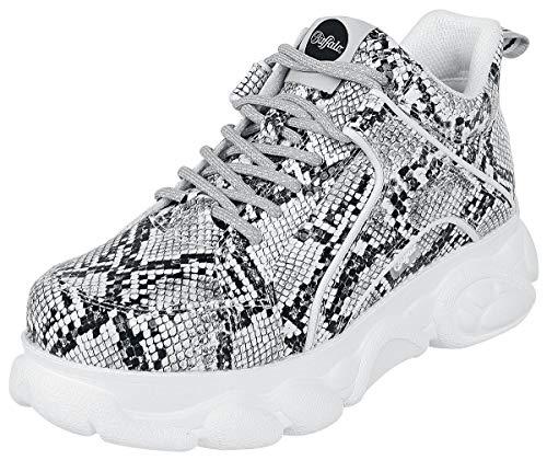 Buffalo Damen Corin Hohe Sneaker, Mehrfarbig (Black/White 000), 40 EU