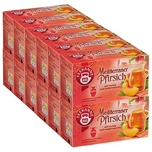 Teekanne Mediterraner Pfirsich, 12er Pack (12 x 50 g)