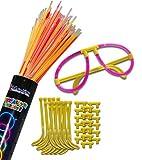 L'offerta comprende 50 montature a forma di occhiali + 1 tubo di braccialetti luminosi di colorazione mista per completare i vostri occhiali luminosi! Un'esperienza unica, create una nuova atmosfera ovunque: feste, discoteche, compleanni e molto altr...