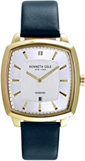 Kenneth Cole Mens Quartz Watch, Analog Display and Leather Strap KC50525004