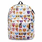 KING DO WAY Sac À Dos Loisir Cartable Scolaire College Voyage pour Enfant Femme Homme Backpack Blanc 32cmX13cmX42cm