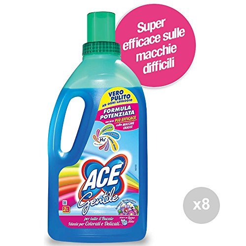 ACE+ Set 8 Gentile lt 2 Duft Blau Colorati-Delicate Waschmittel Waschmittel Mehrfarbig