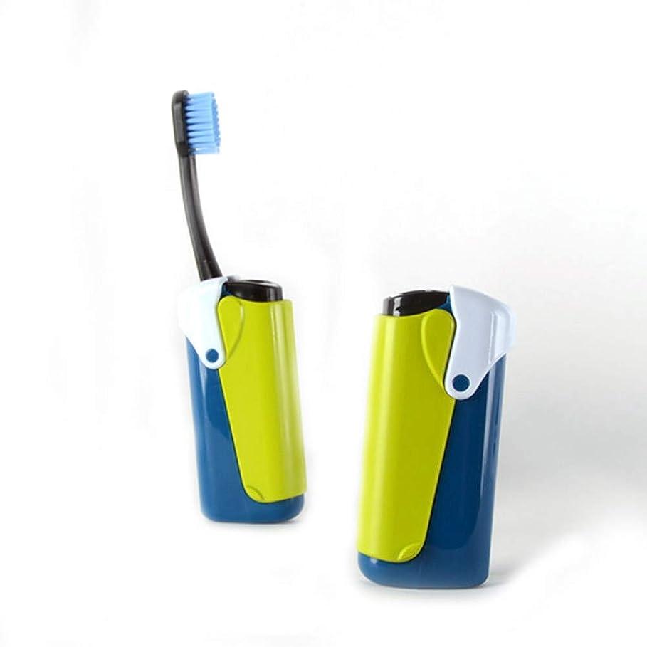 入口徹底的に幸運な折りたたみ歯ブラシ旅行キャンプハイキングポータブルソフト歯ブラシオーラルケア歯ブラシクリーニングホワイトニング、イエロー