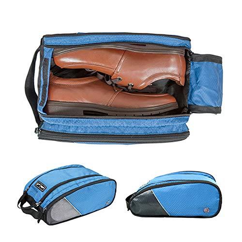 XINGBAO Zapatos De Viaje Bolsa De Acabado, Bolsa para Guardar Zapatos A Prueba De Agua con Apertura Y Cremallera,Blue-32 * 22 * 13.5