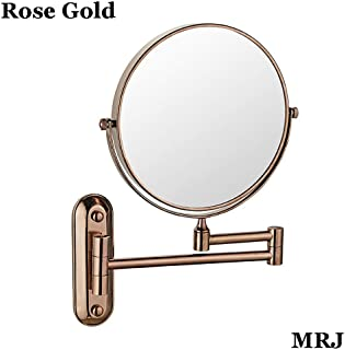 Makeup Mirror, Wall Mounted Mirror, 3X Magnification + Normal Bathroom Shaving Mirror Double-Sided Magnifying Makeup Vanity Swivel Mirror, 6 Inch Extendable Arm, Chrome Finished