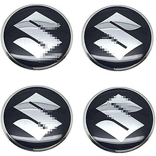 Juego de 4 Tapacubos para Suzuki Vitara Swift SX4 Jimny Samurai Alto Ignis, 56mm/2.2'' Tapa Centro Rueda Llanta Aluminio, Coche Estilo Accesorios Emblema Adhesivo Tapas de Rueda Tapas de Centro