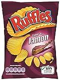 LAY´S - Ruffles Patatas Fritas Onduladas Jamón Bolsa 31 Gr