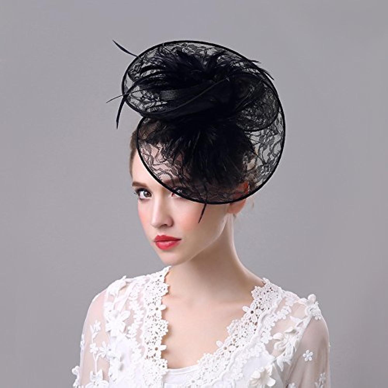 ZHANG33 Pillbox-Hut-Haar-Klipp-Cocktail-Hochzeits-Hut Braut Kopfschmuck Kopfbedeckung b3