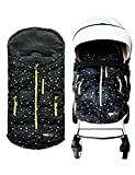 Wipcream Waterproof Baby Stroller Sleeping Bag,Infant Wearable Stroller Blanket Winter Outdoor Tour Keeping Your Baby Warm,Black-Star